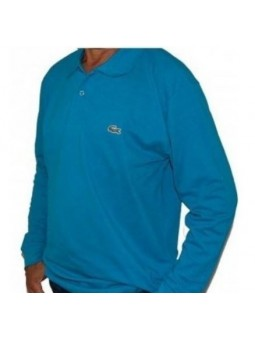 Lacoste Long Sleeve Pique Polo Shirt Turquoise