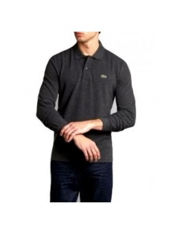 Lacoste Long Sleeve Pique Polo Shirt Charcoal Grey