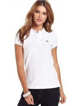 Lacoste Womens Classic Short Sleeve Polo Shirt - White