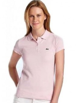 Lacoste Womens Classic Short Sleeve Polo Shirt - Pink