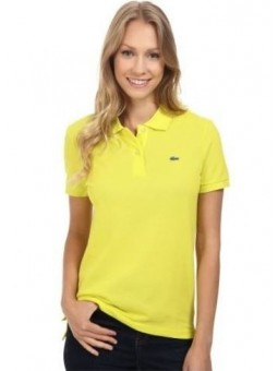 Lacoste Womens Classic Short Sleeve Polo Shirt - Yellow
