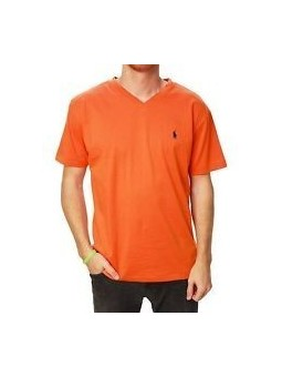 Ralph Lauren V Neck T Shirt  Orange