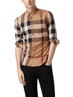Burberry Men's Cotton Exploded Check Button Down Shirt