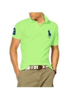 Ralph Lauren Big Pony 3 Short Sleeve Polo Shirt - Neon Green