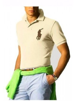 Ralph Lauren Big Pony 3 Short Sleeve Polo Shirt  Kahki