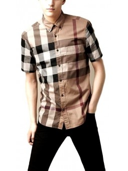 Burberry Men's Giant Exploded Check Cotton Shirt