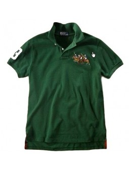 Ralph Lauren Big Pony  Short Sleeve Polo Shirt  Green