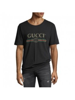 GUCCI Logo Graphic T-Shirt -Black