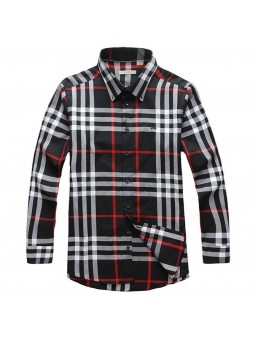 Burberry Brit Men's Long Sleeve Check Shirt Black