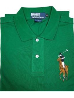 Ralph Lauren Multicolor Big Pony Short Sleeve Polo Shirt Green