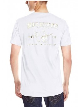 True Religion Metallic Gold Buddha Graphic Tee
