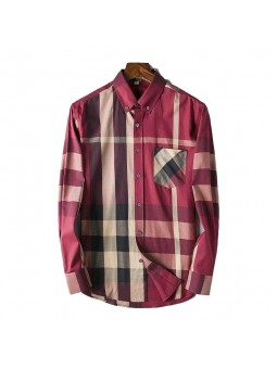 Burberry Men's Thornaby Slim Fit Plaid Sport shirt Red