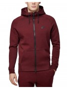 Nike Men's Cotton Zip Hoodie & Pants Set Burgundy