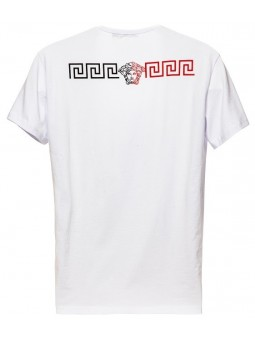 Versace Collection Men's White Graphic Short Sleeve Crewneck T-Shirt
