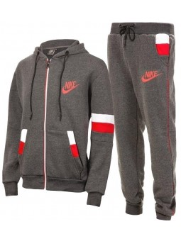 Nike Swoosh Full-Zip Hoodie & Pants Set -Gray