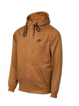 Nike Sportswear Club Fleece Men's Full Zip Hoodie & Pants Set Brown