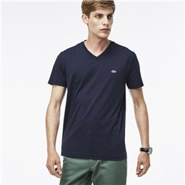 Lacoste Men's Pima Cotton V-Neck T-Shirt