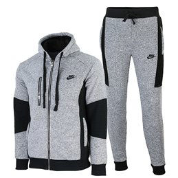 Nike Sportswear Club Fleece Tweed Zip  Hoodie & Pants Set Gray